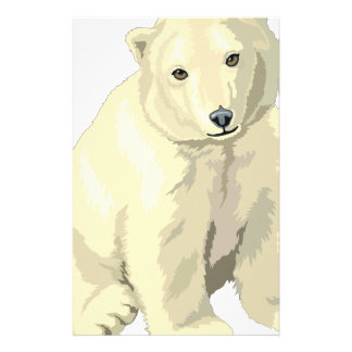 Cuddly  Polar Bear Stationery