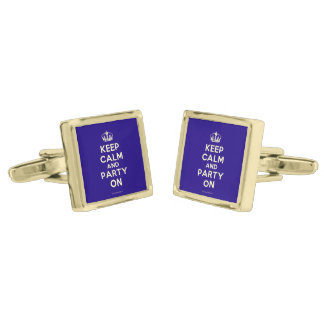 Cufflinks Gold Finish Cuff Links