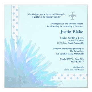 Cultivated Mum Religious Invitation