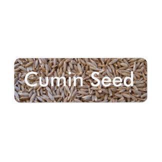 Cumin Seed Return Address Label