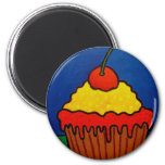 Cup Cake by Piliero 6 Cm Round Magnet