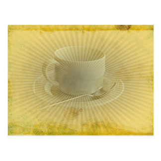 Cup of Coffee Grunge Old Fashion Postcard