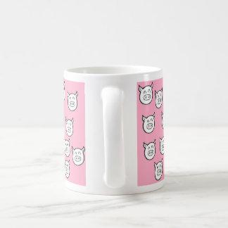 Cup pigs pink bottom basic white mug