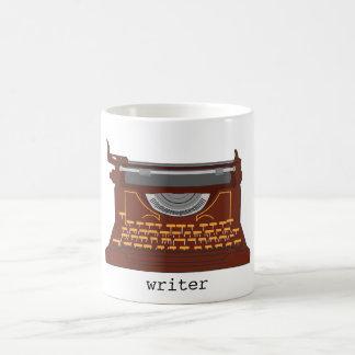 Cup typewriter vintage. basic white mug