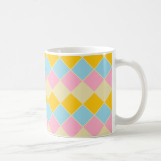 Cup with a glad design of clear colors basic white mug