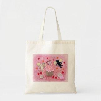 Cupcake and Labrador Fairies Painting Tote Bag