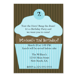 Cupcake Birthday (Today's Best Award) 13 Cm X 18 Cm Invitation Card