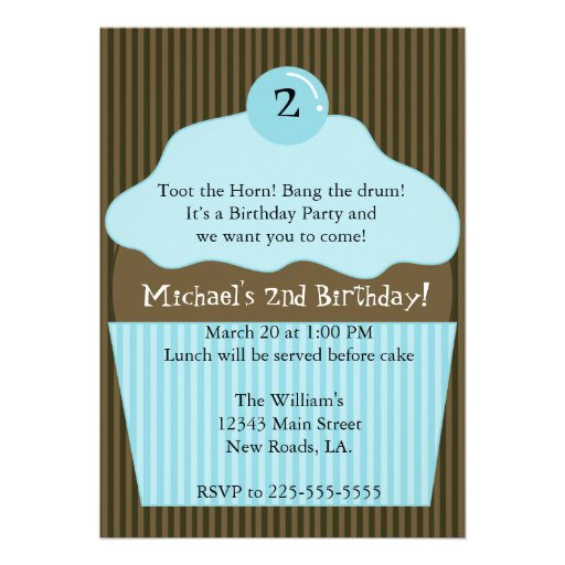 Cupcake Birthday (Today's Best Award) Personalized Announcement