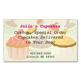 Cupcake Business Card Magnet Magnetic Business Cards