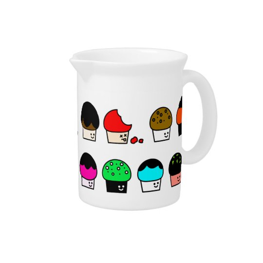 Cupcake Cavalcade – Colourful Repeating Pattern Pitcher