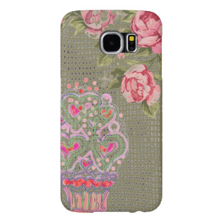 Cupcake Girly Pink Case, Shabby Chic, Cool case, Samsung Galaxy S6 Cases