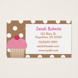 Cupcake Polka Dot Calling Card