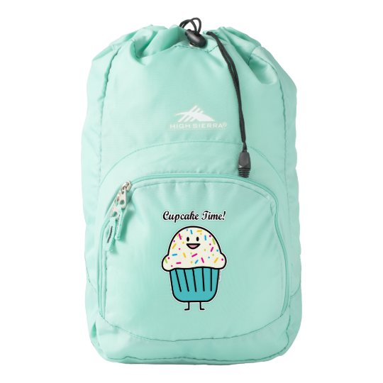Cupcake Time with sprinkles sweet dessert fondant Backpack