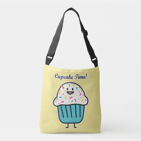 Cupcake Time with sprinkles sweet dessert fondant Crossbody Bag