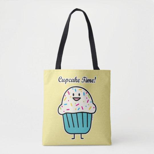 Cupcake Time with sprinkles sweet dessert fondant Tote Bag