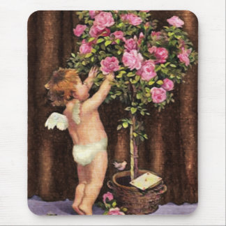 Cupid and Topiary Mouse Mat