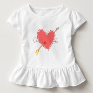 Cupid's Arrow Through Winged Heart Toddler T-Shirt