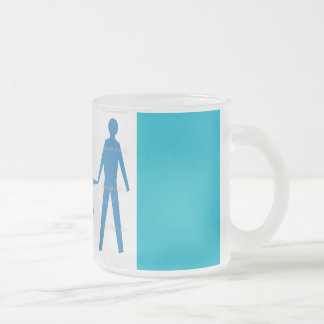 cups frosted glass mug