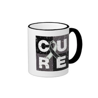 CURE Carcinoid Cancer Distressed Cube Mugs