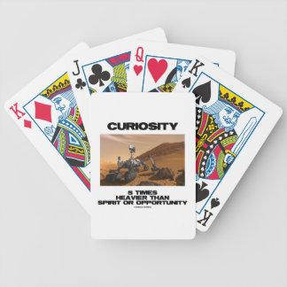 Curiosity 5 Times Heavier Than Spirit Opportunity Card Decks