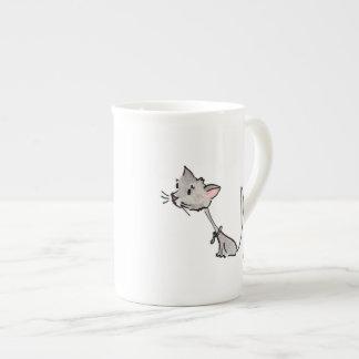 Curious Cat Mug Bone China Mug