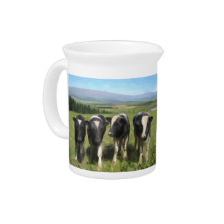 Curious cows pitcher