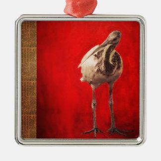 Curious Ibis Christmas Ornament