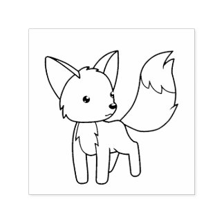 Curious Little Fox Color Me Self-inking Stamp