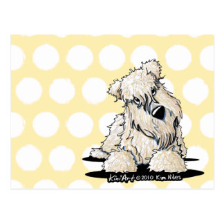Curious Wheaten Terrier Note Card Postcards