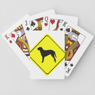 Curly Coated Retriever Warning Sign Love Dogs Playing Cards