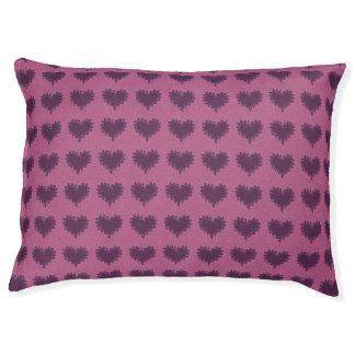 Curly Heart Purple on Purple Pet Dog Pillow