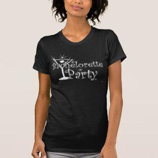 Curly Retro Bachelorette Party Martini Tshirt