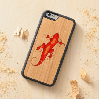 Curly-Toed Lizard Carved Cherry iPhone 6 Bumper Case
