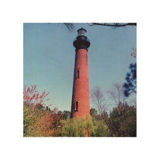 Currituck Lighthouse Wood Canvas