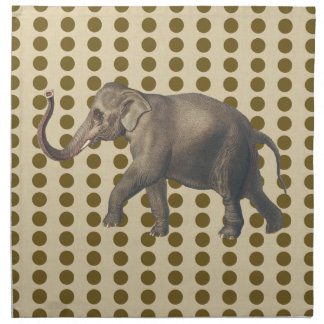 Curry Spice Moods Dots with Elephant Napkin