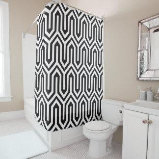 Curtain of Bath Black Pattern Shower Curtain