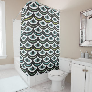 Curtain of Bath Creative Waves Shower Curtain