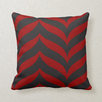 Cushion Red Chevron Pillow Zigzag Cherry