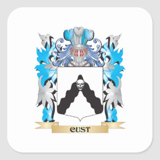 Cust Coat of Arms - Family Crest Stickers
