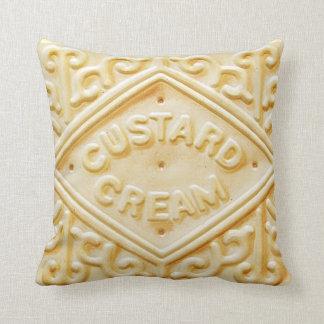 custard cream retro biscuit cookie cushion pillow