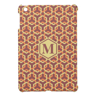 Custard Yellow and Tangerine Hexes Pad Case iPad Mini Cover