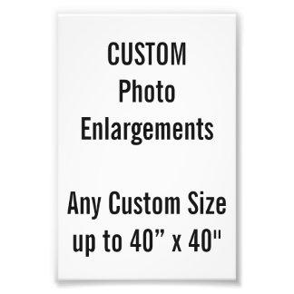 "Custom 100x150mm Photo Enlargement up to 40""x40"""