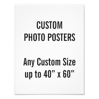 "Custom 10"" x 13"" Photo Poster, up to 40"" x 60"""