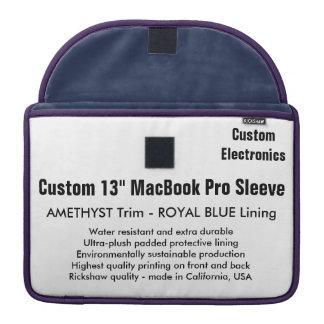 "Custom 13"" MacBook Pro Sleeve - Amethyst & Blue"