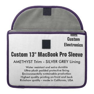 "Custom 13"" MacBook Pro Sleeve - Amethyst & Silver"