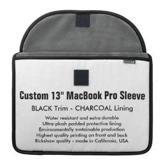 "Custom 13"" MacBook Pro Sleeve - Black & Charcoal"