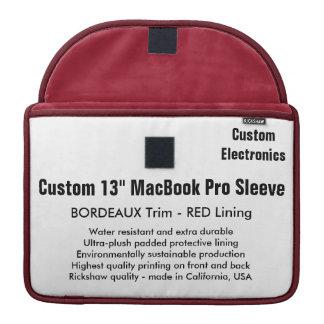 "Custom 13"" MacBook Pro Sleeve - Bordeaux & Red"