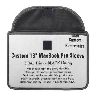 "Custom 13"" MacBook Pro Sleeve - Coal & Black"
