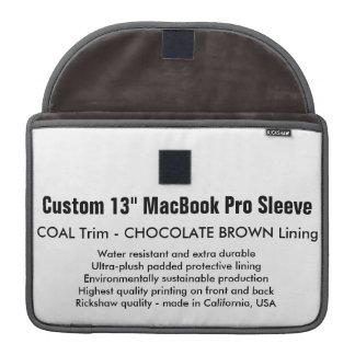 "Custom 13"" MacBook Pro Sleeve - Coal & Brown"