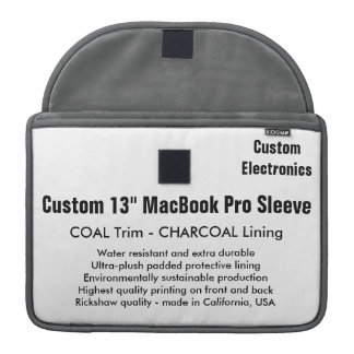 "Custom 13"" MacBook Pro Sleeve - Coal & Charcoal"